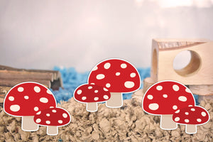Mushrooms | Static Cling Stickers
