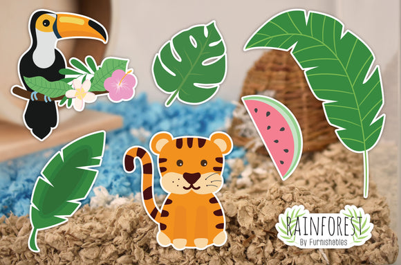 Rainforest | Static Cling | Pet Cage Theme