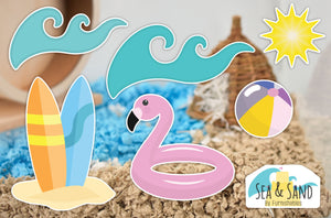 Sea & Sand | Static Cling | Pet Cage Theme