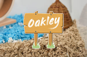 Personalised Wooden Sign Post