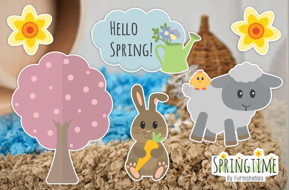 Springtime | Static Cling | Pet Cage Theme