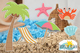 Tropical Beach | Static Cling | Pet Cage Theme