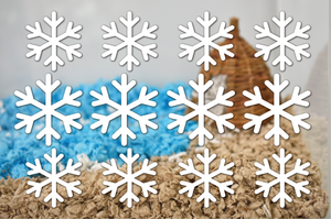 Snowflakes | Static Cling | Pet Cage Theme