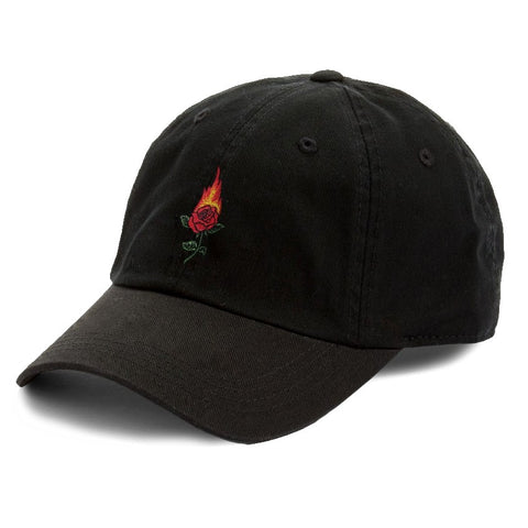 Rose On Fire Dad Hat Cap