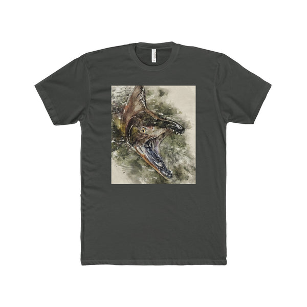 "Crazed ""Humpy"" Pink Salmon on Men's Premium Fit Crew T-Shirt"