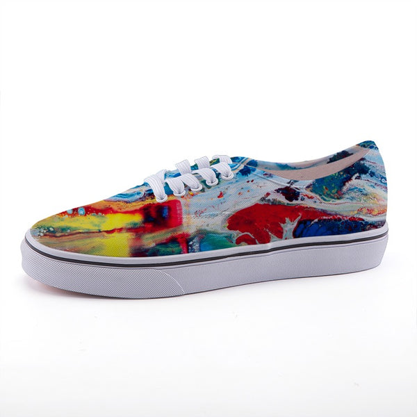 Red White and Blue Low-top fashion canvas shoes