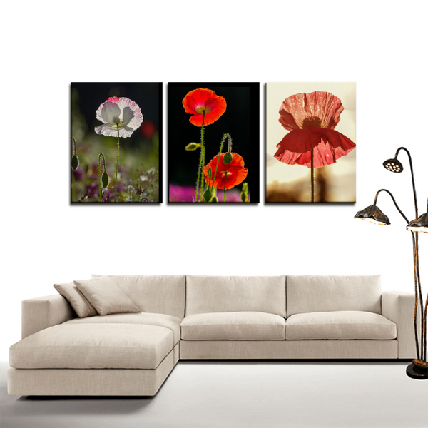 flowers, panel, wall art