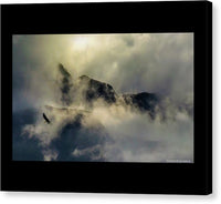 Eagle Over Seward Mountains - Canvas Print