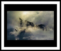Eagle Over Seward Mountains - Framed Print