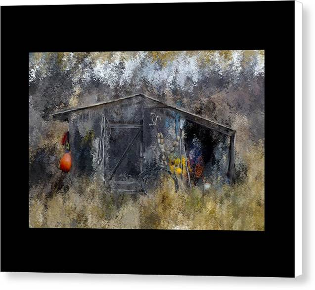 Homer Fishing Shed - Canvas Print