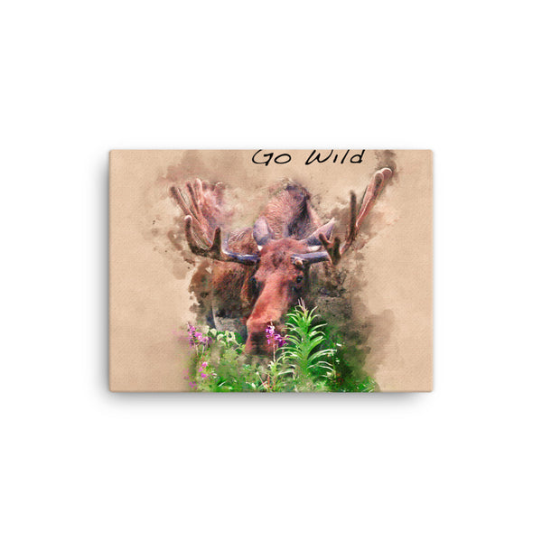 moose - wild - alaska - animal - watercolor - painting