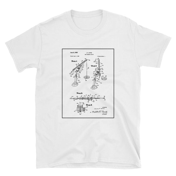 Tippet Patent for Ice Fishing Short-Sleeve Unisex T-Shirt
