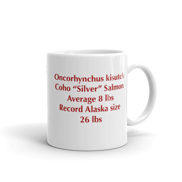 ARTWORK - ART - silver - salmon - coffee - mug -  Stockton Expressions