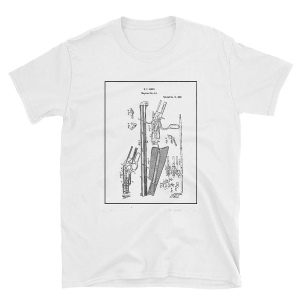 Repeating Rifle Patent Short-Sleeve Unisex T-Shirt