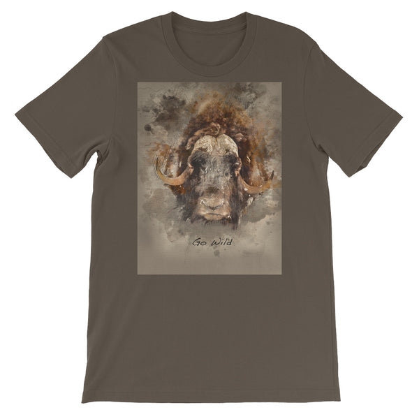 Alaska Bison Short-Sleeve Unisex T-Shirt