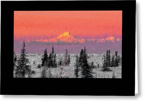 Mt. Redoubt wintertime - Greeting Card