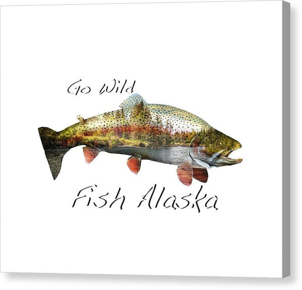 Rainbow Fish Creek - Canvas Print