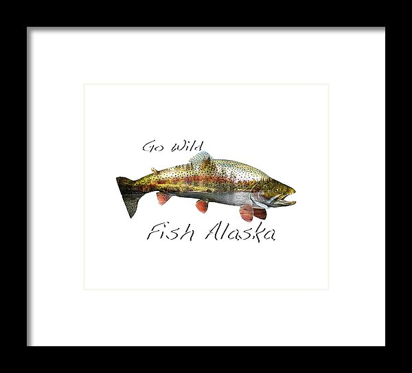Rainbow Fish Creek - Framed Print