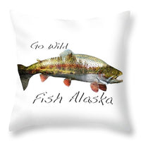 Rainbow Fish Creek - Throw Pillow