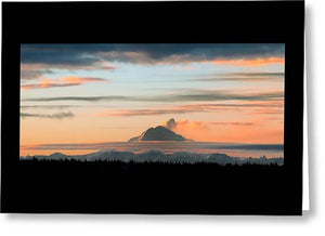 Redoubt Sunset - Greeting Card