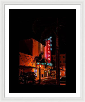 Theatre at night - Framed Print