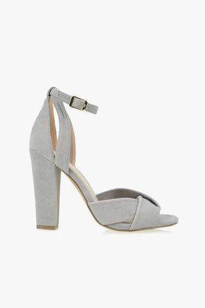 Adriana: Grey Suede Sandals