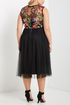 Fioreli: Floral Bodice Dress