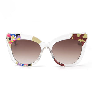 cat eye sunglasses with floral print
