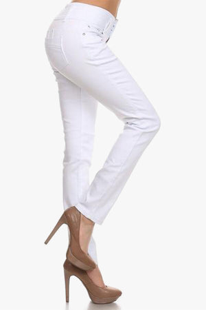 Stella: White Push Up Jeans