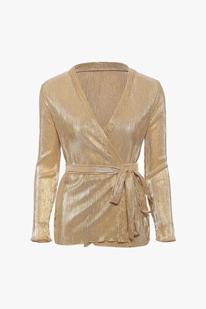 Goldy: Metallic Blouse