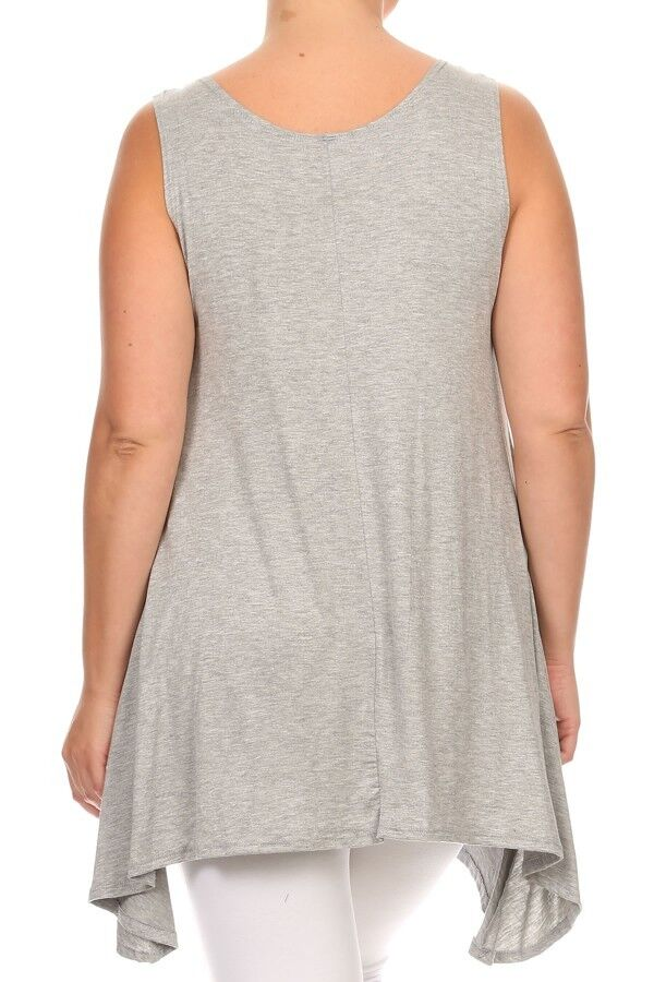 soft and comfy jersey tunic with asymmetric hem