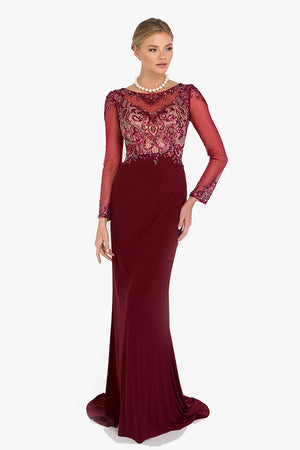 Tiana: Cocktail Evening Maxi in Red