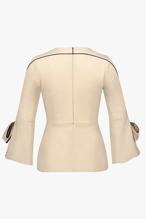 Sabelle: Blouse with Bow Detail