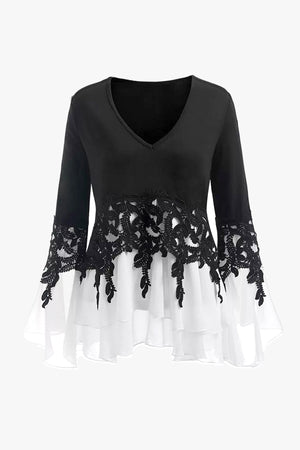 Black Sweater Blouse
