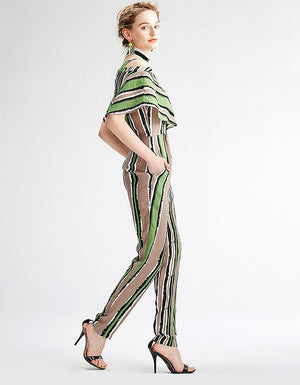 Oria: Pretti Striped Jumpsuit