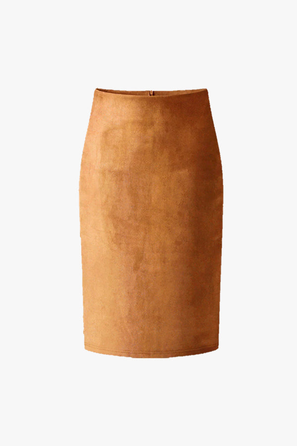 Daisy: Suede Pencil Skirt