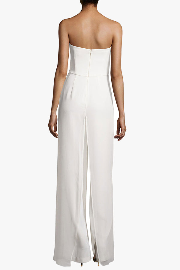 Melanie: White Sleeveless Jumpsuit