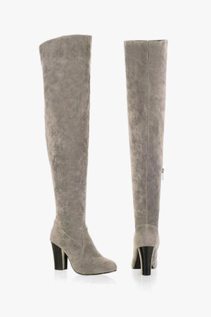 Betty: Grey Over the Knee Boots