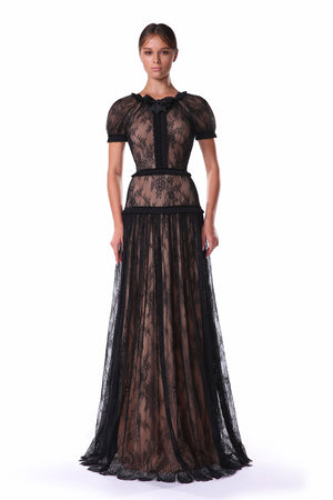 Robin: Maxi Short sleeve Lace Dress