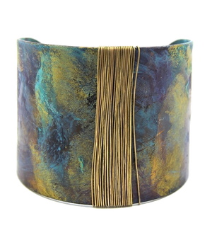 Patina Wire: Wrapped Cuff Bracelet