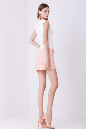 Tessutto: White & Pink Mini Dress