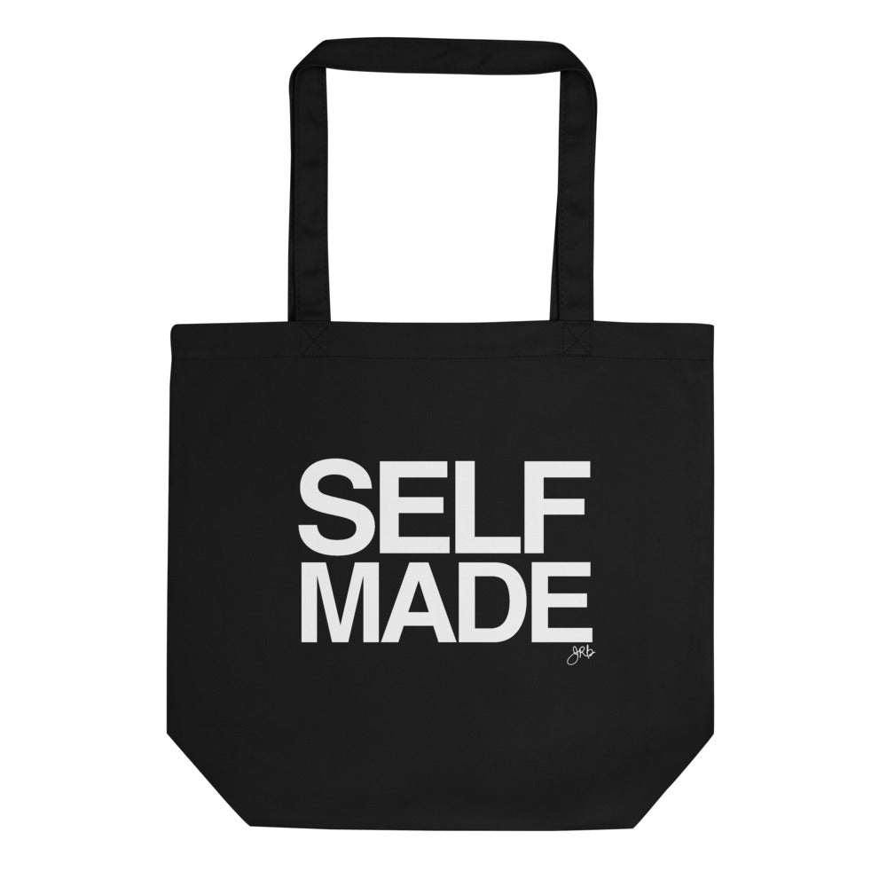 Self Made Eco Friendly Tote Bag-Black