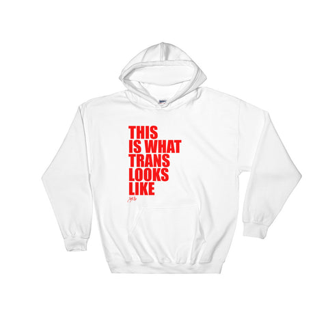 What Trans Looks Like - Hooded Sweatshirt [Red]