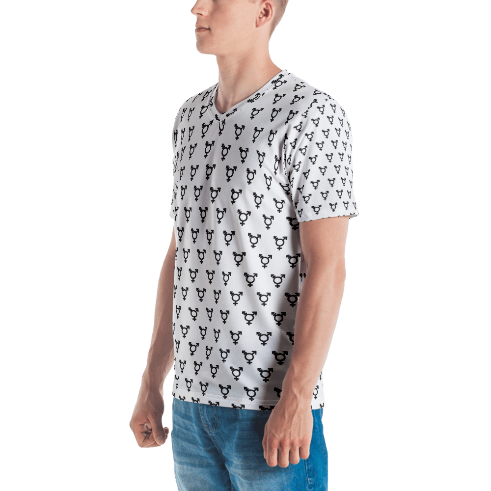 Trans Symbol All-Over Print V-Neck