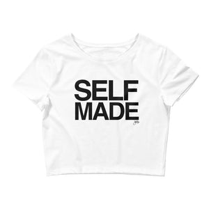 Self Made Crop Top (Black Print)