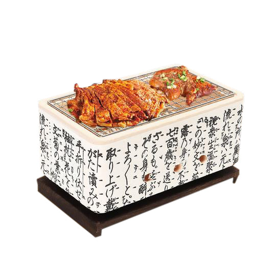 Japanese Ceramic Hibachi BBQ Grill Table