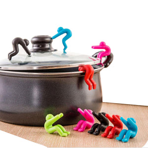 Anti-overflow Pot/Pan Silicone Man Holder