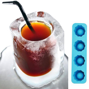 Ice Cube Shot Glass Mold Tray