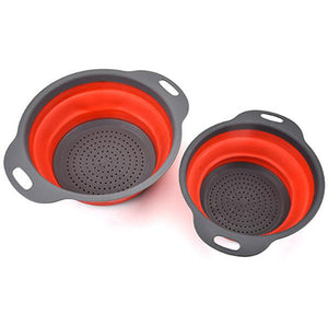 2pcs/set Silicone Collapsible Strainer