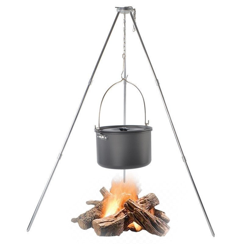 Outdoor BBQ Grill Triangle Stand Rack for Camping